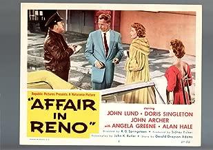 MOVIE POSTER: AFFAIR IN RENO-1957-LOBBY CARD-DRAMA-VF-JOHN KLUND-DORIS SINGLETON VF