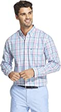 IZOD Men's Button Down Long Sleeve Stretch Performance Check Shirt