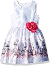 PIPPA & JULIE Girls' Border Print Party Dress