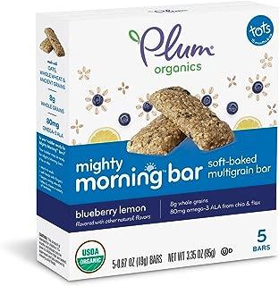 Plum Organics Mighty Morning, Organic Toddler Bar, Blueberry Lemon, 3.35 Ounce (Pack of 8)