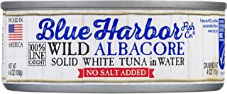 Blue Harbor Fish Co. Wild Albacore Solid White Tuna in Water No Salt Added - 4.6 oz Can (Pack of 12)