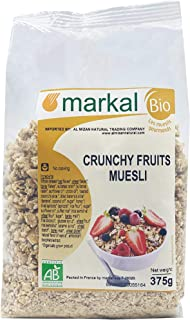Organic Crunchy Fruit Muesli by Markal , 375gm (Brown)