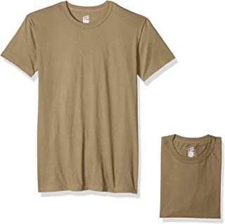 Soffe Mens 685M-3 100% Soft Spun Cotton Short Sleeve T-Shirt 3 Pack Short Sleeve Shirt - Beige