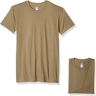 Men's 3 Pack 4.1 Oz Cotton Military Tee, Tan, Large