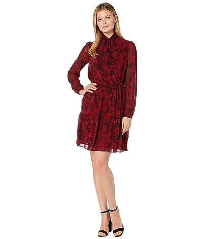 MICHAEL Michael Kors Chantilly Tier Dress (Red Currant) Women