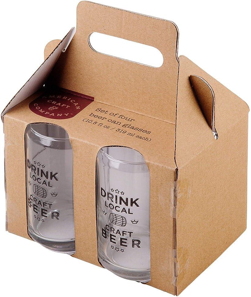 別れるヒョウ獲物Home Essentials アメリカンクラフトビール缶グラス 4個セット
