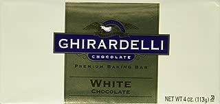 Ghirardelli Chocolate Baking Bar, White Chocolate, 4-Ounce Bars (Pack of 6)