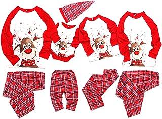 Family Matching Christmas pjs Pyjama Sets Cartoon Plaid Sleepwear Homewear Sets for Man Women Girl Boy Baby 2PCS Sets