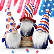 Set of 3 Patriotic Gnome Plush,Tiered Tray Decor,Independence Day Decoration Tomte Veterans Day Standing Figurine for 4th ...