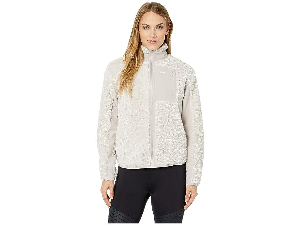Nike Long Sleeve Full-Zip Training Top (Desert Sand/Moon Particle/White) Women