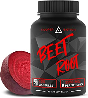 Beet Root Capsules - Concentrated Organic Beet Root Powder Supplement Extracted from Beet Juice - Blood Pressure Supplemen...