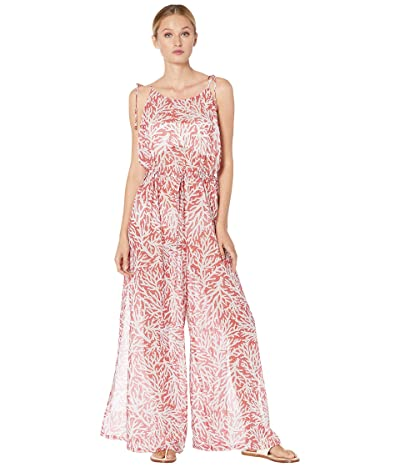 MICHAEL Michael Kors Printed Jumpsuit Cover-Up (Sea Coral) Women