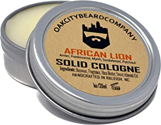 OakCityBeardCo. - African Lion - Men's Solid Cologne - 1oz