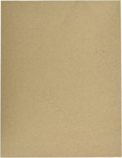 8 1/2 X 11 Inches Cardboard   30pt (624 gsm) Chipboard Sheets   50 Chipboards Per Pack. (Brown)