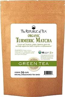 The Republic of Tea, Organic Turmeric Matcha, 36 Tea Bags