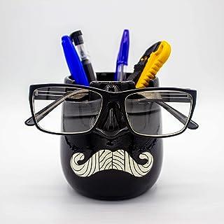 Luvberries - Ceramic Eyegl Holder and Desk Organizer Vase, Eyewear and Stationery Organizer, Makeup Essentials Holder, Org...