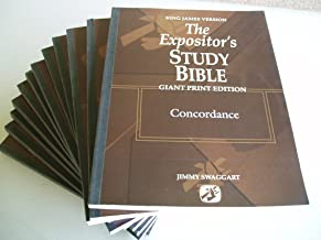 King James Version The Expositor's STUDY BIBLE Giant Print Edition (Complete Set of 11 Paperbacks including a separate Concordance)