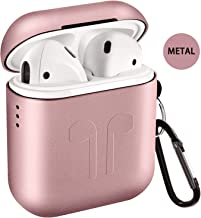 Metal Airpods Case, Full Protective Skin Cover Accessories Kits Compatible with Airpods 1&2 Charging Case[Not for Wireless Charging Case]