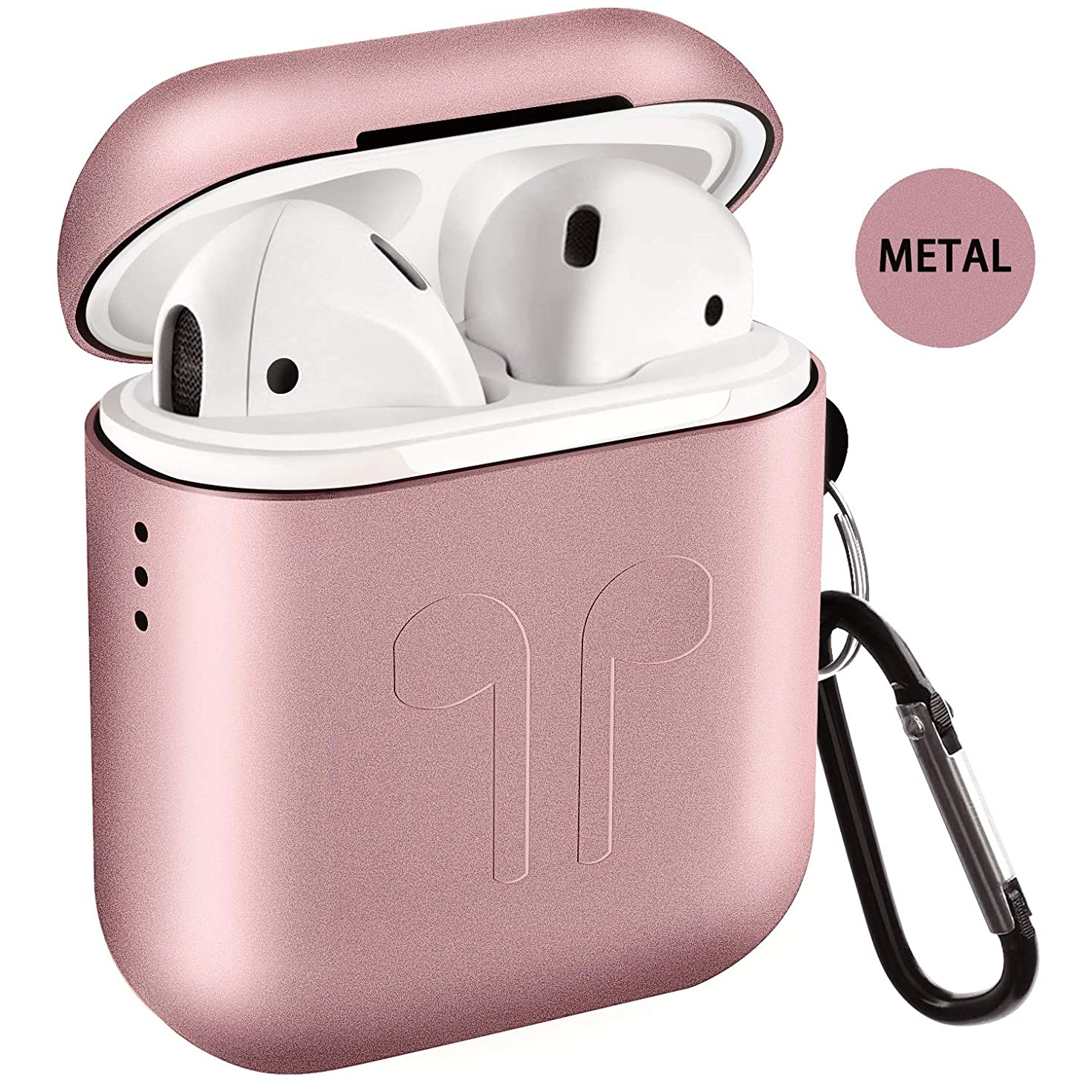 Metal Airpods Case 2019 Newest Full Protective Skin Cover Accessories Kits Compatible Airpods 1&2 Charging Case[Not for Wireless Charging Case]