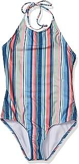 Splendid Girls' Big Strappy Back High Neck One Piece Swimsuit,
