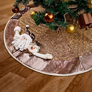 YING LING CRAFTS Christmas Tree Skirt Home Decoration 3D Santa Claus Snowman Plush Doll Stuffed Animal for Large Christmas...