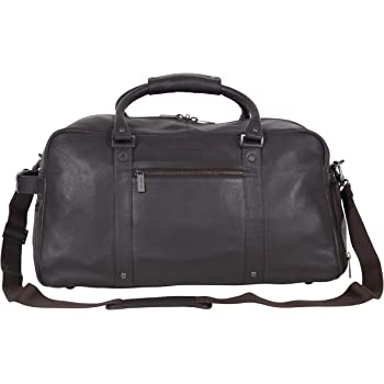 """Kenneth Cole Reaction Men's 20"""" Leather Top Zip Travel with RFID"""