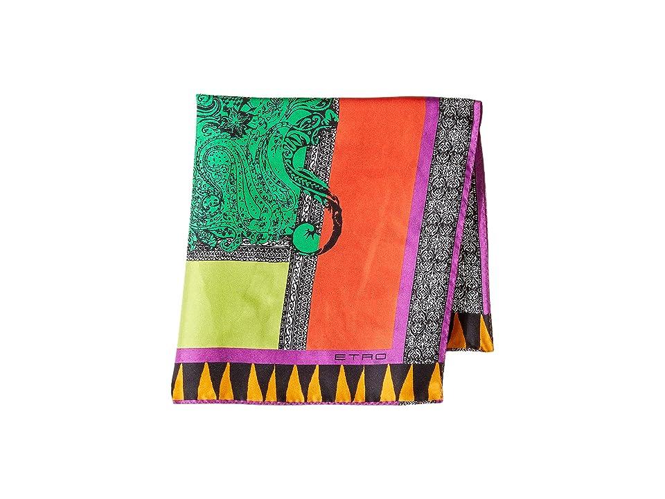 Etro Color Block Pocket Square (Multi) Ties