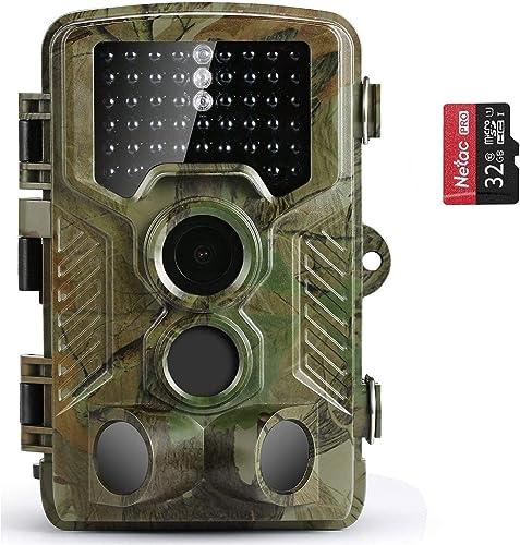 COOLIFE 21MP 1080P HD Caméra de Chasse Caméra de Surveillance Étanche 49 LEDs Grand Angle 125 ° De Vision Nocturne 25...