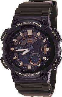 ساعة كاجوال للرجال من كاسيو- عرض انالوج-رقمي، Aeq-110W-3Avdf