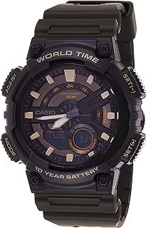 Casio Casual Watch Analog-Digital Display For Men Aeq-110W-3Avdf