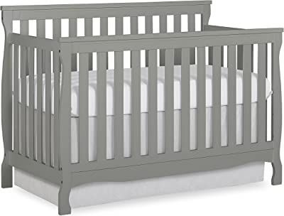 Dream On Me, Keyport 5-in-1 Convertible Crib, Steel Grey
