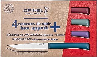 OPINEL - Coffret Table Bon Appétit Glam - 4 Couteaux OPINEL de Table - Couteaux à Steak de Table - Lame Inox Microdentée 1...