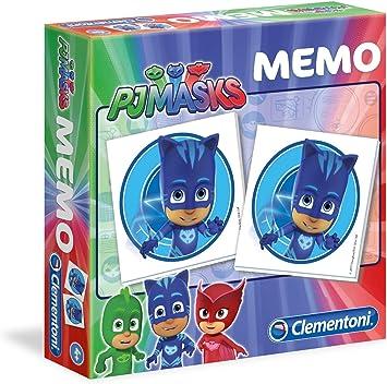 Clementoni - 18012 - Memo PJ Masks superpijamas, Juego de Memoria y asociación, Juego Educativo para niños de 3 años, Juego de Mesa para niños - ...