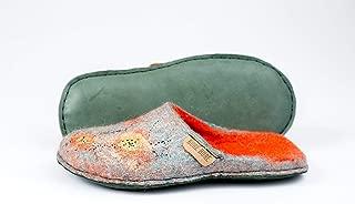 BureBure Ladies Slip On Wool Slippers Viola Handmade in Europe