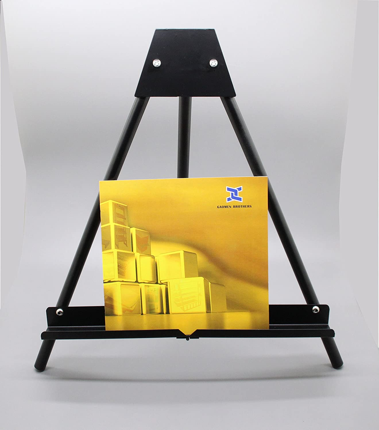 FixtureDisplays Table Top Easel with Portable Design, 17.5 x 16.75 - Black 19449-FBA