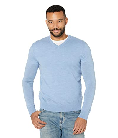 Calvin Klein Merino V-Neck Sweater (Linen Blue) Men