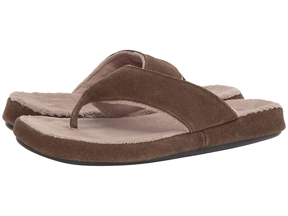 Acorn Suede Spa Thong (Smoky Taupe) Men