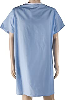 DMI Hospital Gown, Easy Access Patient Gown, Blue Hospital Gown, Blue
