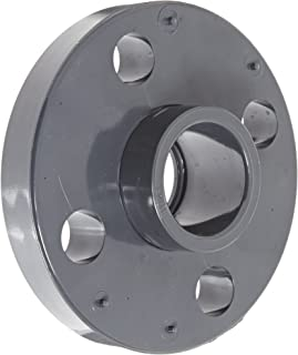 GF Piping Systems PVC Pipe Fitting, Van-Stone Flange, Schedule 80, Gray, 1