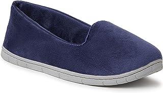 EZ Feet Women's Comfy Cozy Velour Closed Back Indoor/Outdoor Slipper