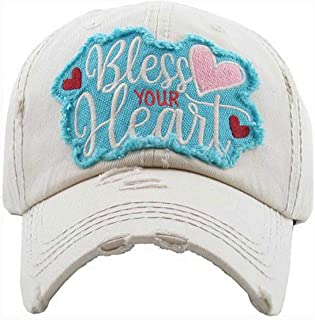 KBETHOS Hats Women's Bless Your Heart Vintage Baseball Hat Cap