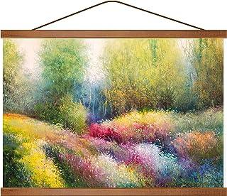 Aibesser Magnetische posterrail, 50 cm magneet magnetische posterlijst hout posterlijst posterhanger voor afdrukken kunstw...