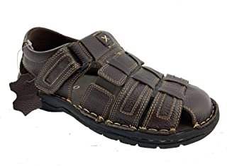 Labo Pro Men's Genuine Leather Outdoor Sandals Shoes Ultra Comfort Soft Wide