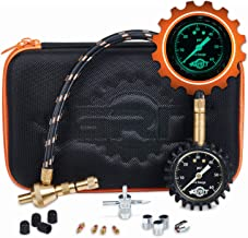 Rapid Air Down Tire Deflator Offroad Kit, PSI Tire Pressure Gauge [Glows in Dark] & Custom Foam Case + Chrome Caps & Valve Core Repair Tool   Quickly Deflate 4x4 Off Road Tires on Jeep, Truck, ATV