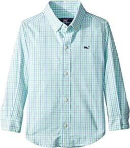 Windowpane Check Whale Shirt (Toddler/Little Kids/Big Kids)