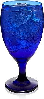 Libbey Premiere Cobalt Iced Tea Goblet Beverage Glasses, Set of 12 (Renewed)