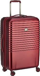 Delsey Paris Caumartin Plus 70 cm 4 Double Wheels Trolley Case Suitcase (Hardside), Burgundy (00207882004)