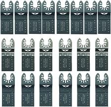 Mezcla de 18 cuchillas SabreCut BB/_SPK18 para Dewalt Stanley Black and Decker Bosch Fein Makita Milwaukee Einhell Hitachi Parkside Ryobi Worx accesorios para zona de trabajo multiusos No-StarLock