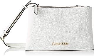 حقيبة صغيرة طويلة تمر بالجسم لاغراض السفر من كالفن كلاين، لون ابيض، 25 سم - موديل K60K606266