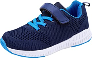 XUANIC Kids Tennis Running Shoes Lightweight Breathable Fashion Sneakers for Boys and Girls